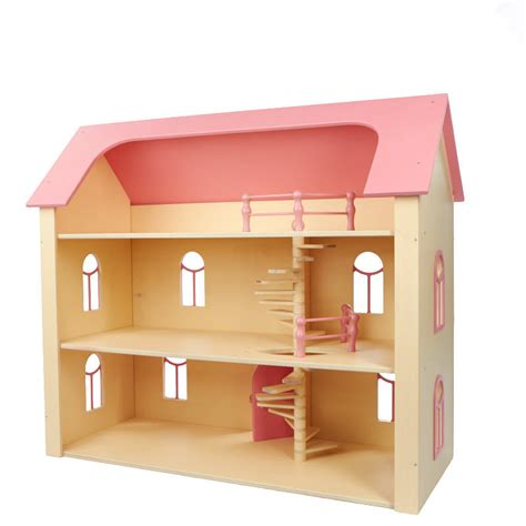 pink doll houses pink three story wooden manor dollhouse craft supplies sale sales