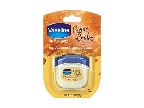 Vaseline Lip Therapy Cocoa Butter Made In Usa 0 25oz 7gr vaseline lip therapy creme brulee mini 25oz ingredients