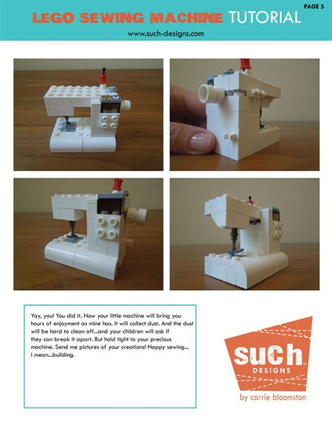 lego machine tutorial lego sewing machine tutorial carrie bloomston