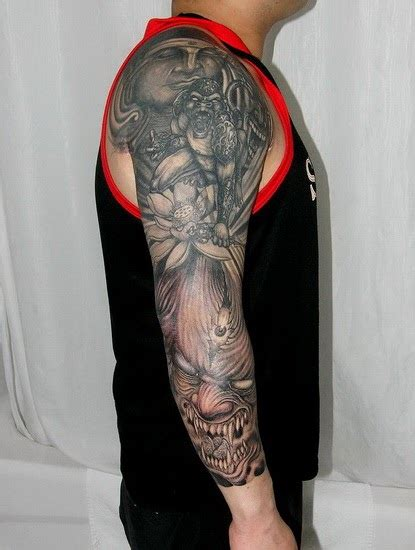 free tattoo designs buddha and demon tattoo