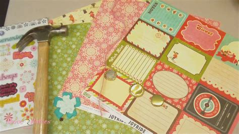 scrapbooking layout youtube how to make bottle cap embellishments scrapbook layout