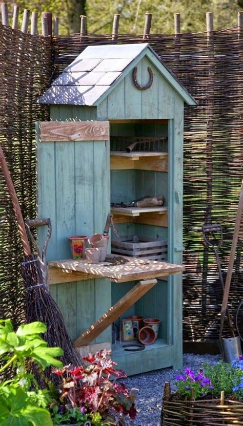 Build Your Own Tool Shed by How To Build A Small Garden Tool Shed Woodworking Plan