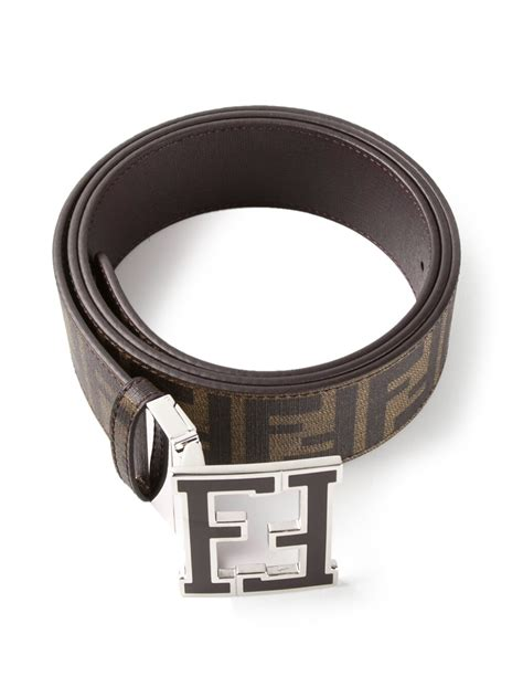 fendi zucca belt in brown for lyst