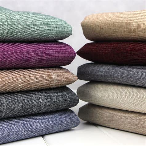 fabric for couches south africa thickening coarse linen sofa fabric material plain solid