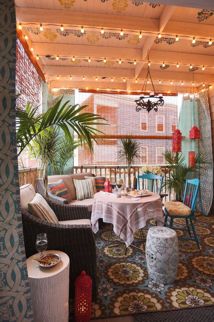 fascinating boho chic terrace designs  full