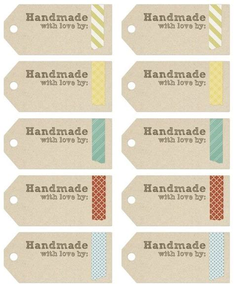 printable christmas tags handmade for home printable images gallery category page 1