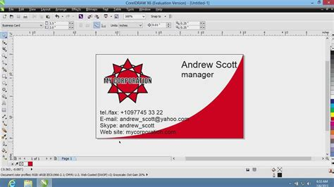 How To Create Business Cards In Coreldraw Youtube How To Make A Business Card Template