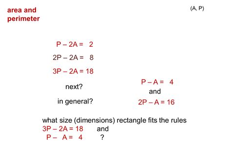 pattern rule for perimeters median don steward mathematics teaching area and