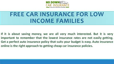 Find The Best Low Income Car Insurance Policy   Tips To