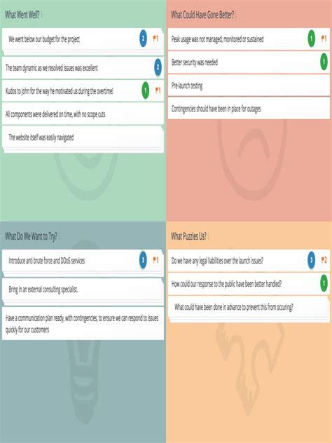Agile Retrospective Template Online Retrospective Tools Groupmap Agile Retrospective Template