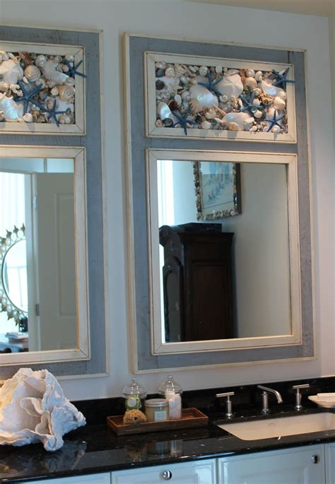 beach house bathroom mirrors seashell mirrors by my honeypickles www etsy com shop myhoneypickles seaside decor beach