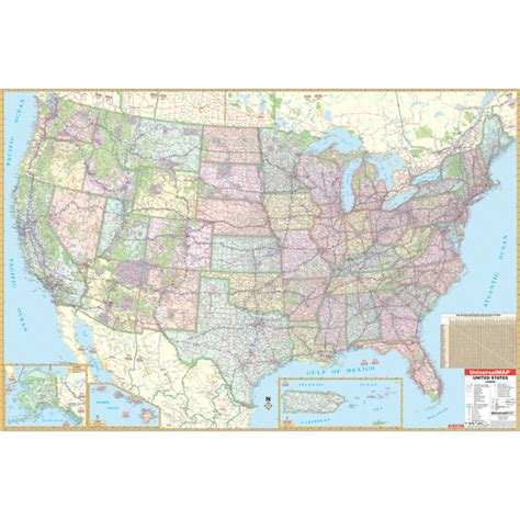large us map for wall united state wall roller maps us wall map large