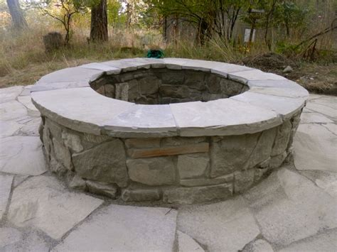 Firepit Stones Patio And Pit Cedar Sustainable Woodwork
