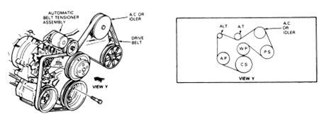 1999 ford f150 belt diagram 1984 ford f150 vacuum diagram routing fixya