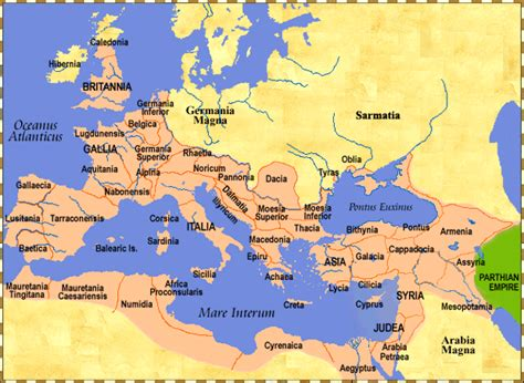 political map of rome maps of the world in the century c e