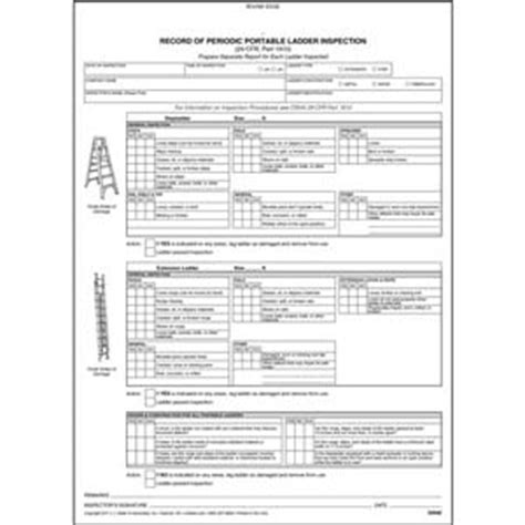 periodic inspection report sle ladder inspection requirements best image voixmag
