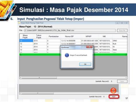 membuat database espt pph 21 cara mudah menggunakan aplikasi espt pph 21 2014