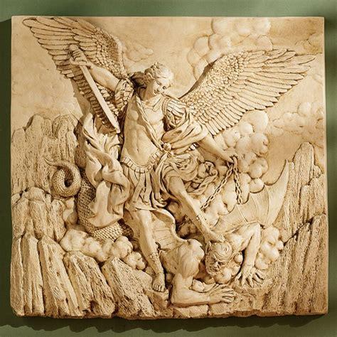 design toscano st michael  archangel sculptural wall