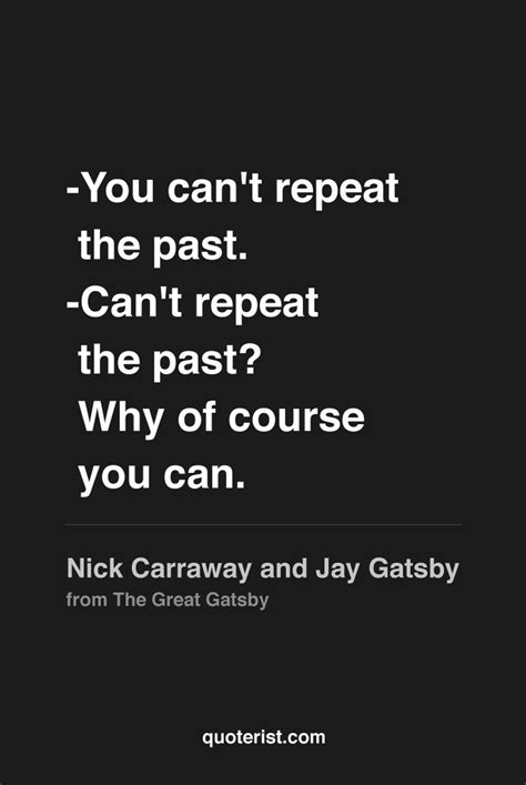 great gatsby themes about the past nick carraway quotes quotesgram