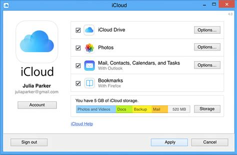 How To Make Room On Icloud by Icloud Panel For Windows 6 0 1 Free