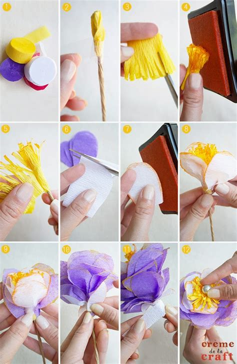 how to make crepe paper flowers step by step www