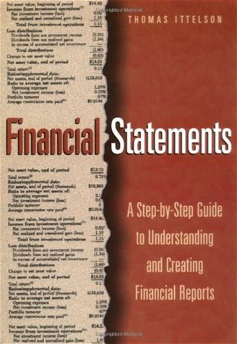 financial reporting books financial statements a step by step guide to