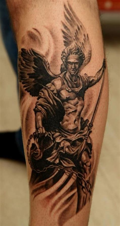 angel tattoo in arm guardian angel tattoo google search pinteres
