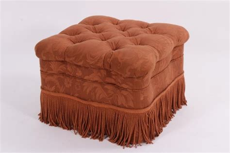 tufted ottoman with skirt tufted ottoman with fringed skirt