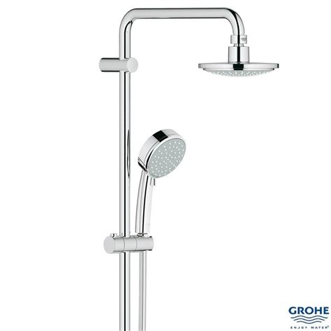 Grohe Shower Set New Tempesta 200 With Shower 27389000 grohe new tempesta cosmopolitan system 160 bar shower 2 outlets chrome 27922 000