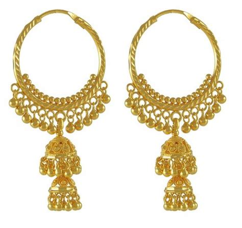 Chandelier Hoop Earrings 22k Gold Chandelier Hoops Ajer50157 22k Gold Fancy