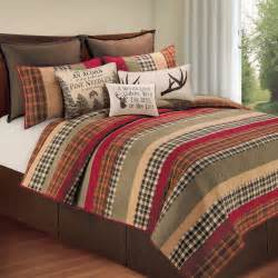 Cream Comforters Hillside Haven Rustic Plaid Quilt Bedding