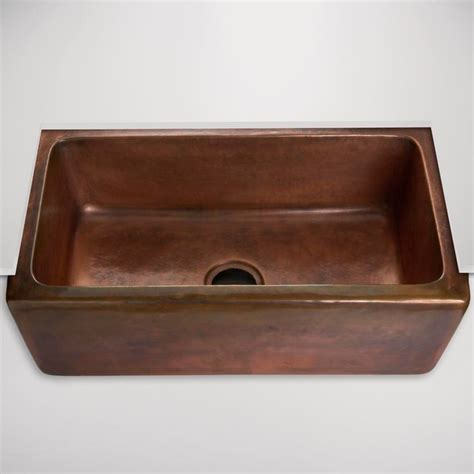 normandy hammered copper farmhouse kitchen sink