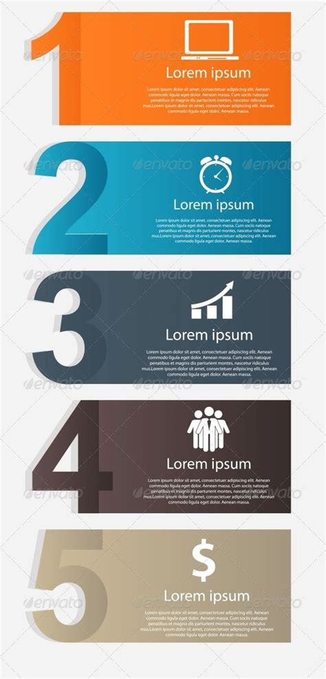design elements list infographics design elements vector illustration ideas