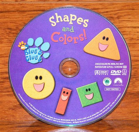 colors dvd blue s clues shapes and colors children s animated