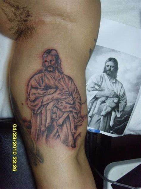 lamb of god tattoos of god