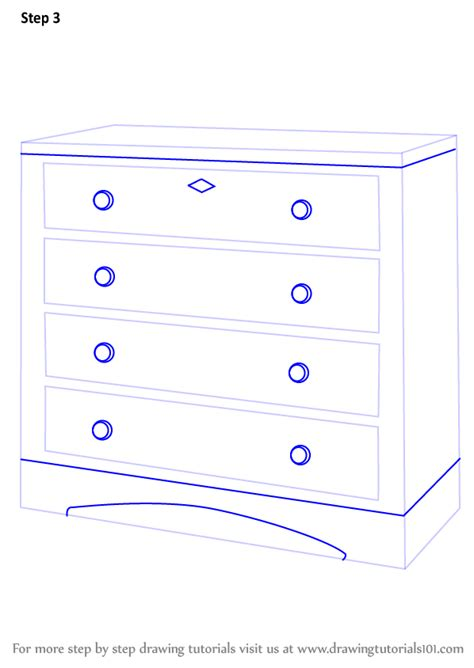 Doodle Drawer by Learn How To Draw A Chest Of Drawers Furniture Step By