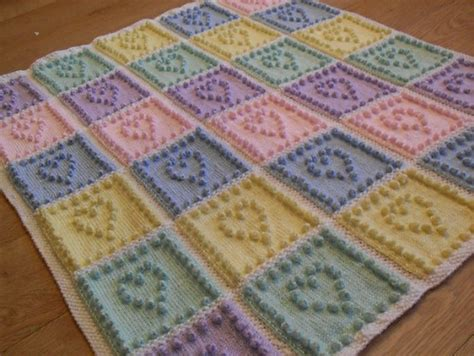 heart knitting pattern uk knit heart squares baby blanket pattern is the sweetest