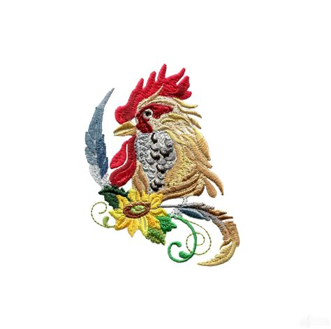 embroidery design rooster swnrr106 rooster embroidery design