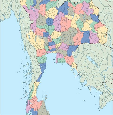 vector map thailand thailand blind map eps illustrator map our