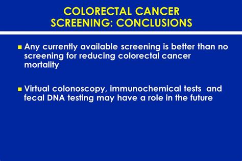 cancer screening tests evaluating the evidence ppt