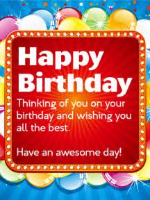 an awesome day happy birthday wishes card birthday