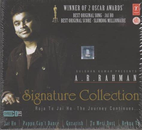 ar rahman jai ho tamil mp3 download ar rahman signature collection roja to jai ho hindi