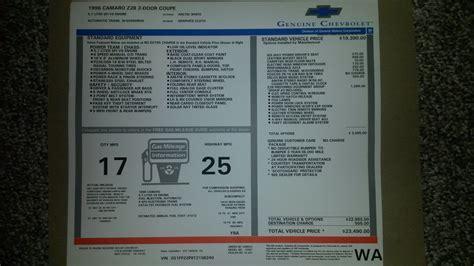 Find Original Window Sticker My Car