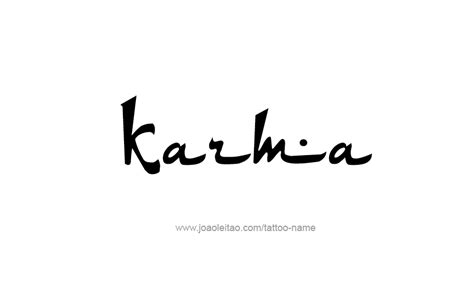 symbol for karma tattoo designs karma name designs
