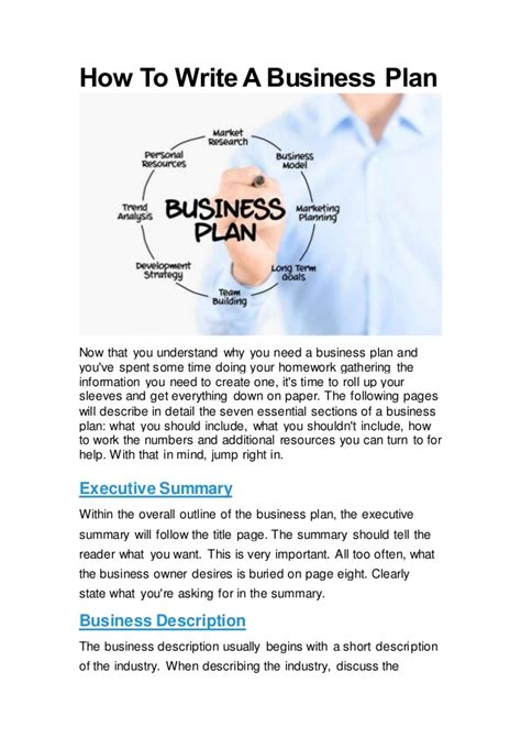 what are the steps in writing a business plan 187 original