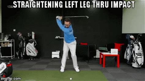 left leg in golf swing golf swing left leg straightens imgflip