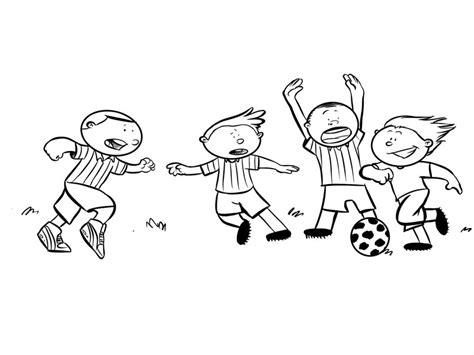 imagenes de niños jugando futbol para dibujar ni 241 os jugando al f 250 tbol dibujo de deportes para pintar