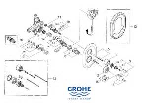 grohe grohtherm auto 1000 shower spares and parts grohe