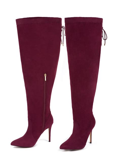 the knee boots wide calf eloquii s luella the knee wide calf boots