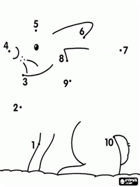 Fichas de unir puntos del 1 al 10. - Manualidades a Raudales